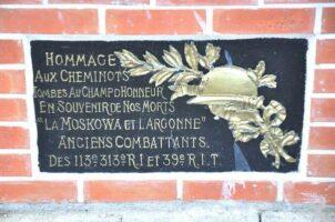 Plaque Commémorative de la Gare