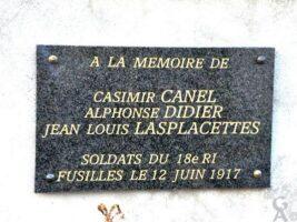 Plaque Commémorative des Fusillés