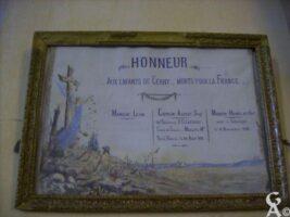 Tableau Commémoratif de l'Eglise