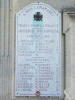 Plaques Commémoratives de l'Arquebuse Soissonnaise