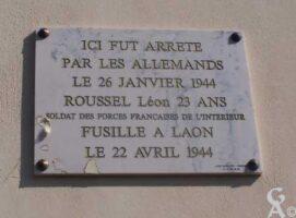 Plaque Commémorative Léon ROUSSEL