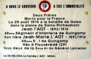 Plaque Commémorative L'AOT