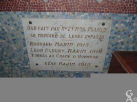 Plaque Commémorative de la Famille MARIN