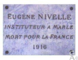 Plaque Commémorative Eugène NIVELLE