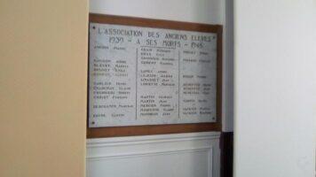 Plaque Commémorative 39-45 du Collège Lenain