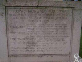 Les opérations pour le Royal Munster Fusillers
