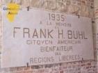 Plaque à la mémoire de Frank H.BUHL - Temple