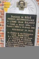 Plaque en hommage à l'abbé BAJARD