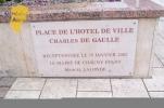 Plaque - Place de l'hotel de Ville