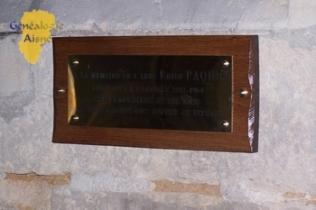 Plaque - Commémorative
