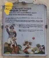 Plaque mémoire Gondallier de Tugny
