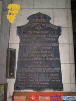 Eglise Saint-Martin : Plaque en l'honneur des bienfaiteurs de l'église Saint-Martin