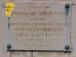 Manufacture des Glaces : Plaque commémoratives Louis Lucas de NEHOU et Fondation de la manufacture des Glaces