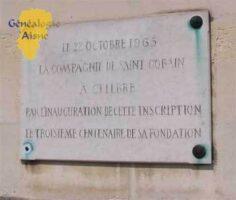 Le 22 octobre 1965 la compagnie de Saint-Gobain a célébré par l'inauguration de cette inscription le troisième centenaire de sa fondation