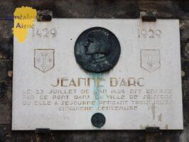 Plaque Jeanne D'ARC
