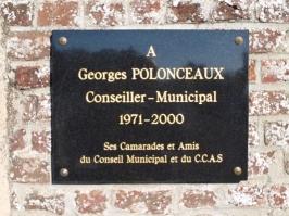 Plaque Commémorative Georges POLONCEAUX