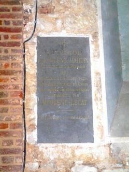 Plaque Commémorative ODENT-MARTIN