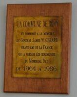 Plaque Commémorative du Général GERARD