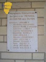Plaque des membres fondateurs du Comité du Memorial du Chemin des Dames