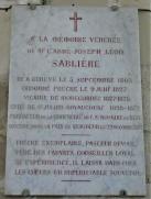 Plaque Abbé SABLIERE
