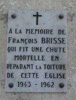 Plaque François BRISSE