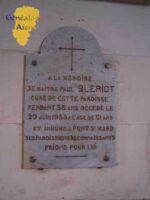 Plaque de l'église