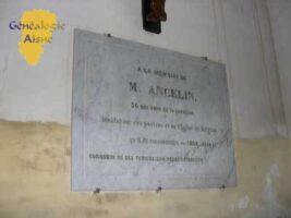 Eglise : Plaque en mémoire de M. ANCELIN