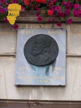 Plaque en hommage à Pierre Ramus