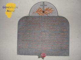 Plaque de l'église en hommage à Georges HINAULT