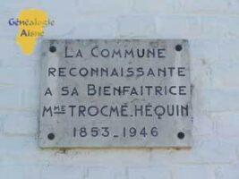 Plaque en hommage à Mme TROCME - Salle des fêtes