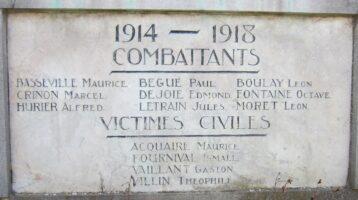 Monument aux mort d'Annois - Jean-Marie Lefèvre