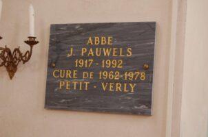 Plaque abbé Pauwels - M.Trannois