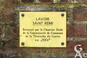 Plaque du lavoir de Saint-Gobert-A.Demolder