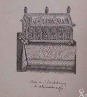 La châsse de Sainte benoite avant la révolution de 1789 - Contributeur : Archives municipales de Saint-Quentin