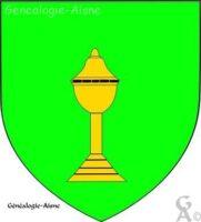 De sinople à la coupe fermée d'or<br> source : L'armorial des villes et villages de france - Contributeur : W.Vaudron