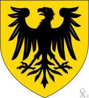 Blason de Chevennes : D'or à l'aigle éployée de sable - Contributeur : W.Vaudron