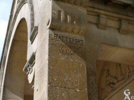 Inscription concernant la reconstruction de l'église - Contributeur : S.Linéatte