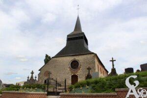 Eglise et cimetière - Contributeur : A.Demolder