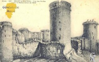 Vue des ruines, avant la Restauration de 1843 - Contributeur : Carte postale : Sébastien Sartori
