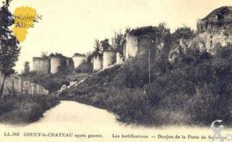 Aprés Guerre - Les fortifications et le donjon de la Porte de Soissons - Contributeur : M Trannois