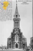 L'église : façade principale - Contributeur : Mairie de Brancourt le Grand