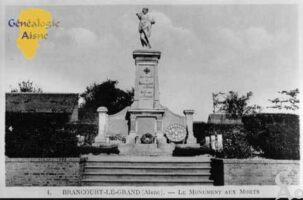 Le monument aux morts - Contributeur : Mairie de Brancourt le Grand
