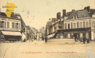Place Henri IV et rue Saint-Martin. - Contributeur : Christiane Wery