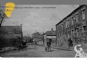 Rue de l'église en 1906 - Contributeur : Jean Claude Menu