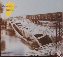 le pont des Anglais. - Contributeur : Source archives municipales de Saint-Quentin, fond iconographique. Contr : Sébastien Sartori.