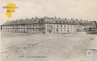 la caserne Saint Martin, ville basse, début du XXé siécle. - Contributeur : Contributeur Wikipédia, Commons et Rodovid