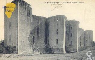 ruines du vieux château - Contributeur : Carte postale Sébastien Sartori