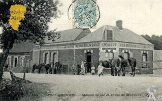 Moulin Brûlé et route de Morcourt. - Contributeur : Maryse Trannois