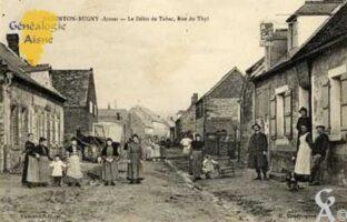 Le débit de Tabac, rue de Thil