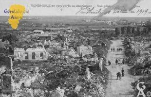 Vue générale en 1919 après sa destruction - Contributeur : Colette Brille